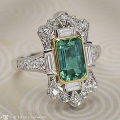 5f1b4c486d1 Sterling Silver Ring Size 6  JewelleryGifts  JewelryTree Emerald Jewelry