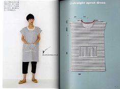 Yoshihiko Tsukiori de puntada recta Delantal Y Delantal Vestidos-Japonés Libro De Arte