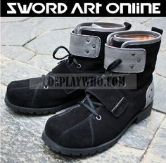 SAO Kirito black matte leather shoes / boots