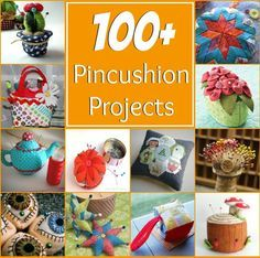 100+ easy to sew pincushion patterns. All patterns and projects are free with step by step instructions. Includes animals, food, shapes, and embroidery.