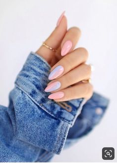 Nageldesign - Nail Art - Nagellack - Nail Polish - Nailart - Nails Amanda Wedding Gifts: Unique And Cute Acrylic Nails, Pastel Nails, Cute Nails, Pastel Blue Nails, Acrylic Tips, Acrylic Colors, Nail Polish, Nail Manicure, Shellac Nails