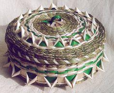 Split ash and sweet grass basket by Rita Arbour, Mohawk