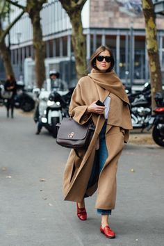 camel coat fall and winter street style