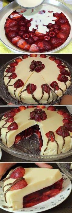 "Gelatina de Leche Condensada Rellena de Frutos Rojos "" By Sazonando a mi Estilo. #gelatina #frutosrojos #lechecondensada #fresas #frutas #gelato #postres #cheesecake #helados #cakes #pan #panfrances #panettone #panes #pantone #pan #recetas #recipe #casero #torta #tartas #pastel #nestlecocina #bizcocho #bizcochuelo #tasty #cocina #chocolate Si te gusta dinos HOLA y dale a Me Gusta MIREN..."
