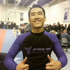 Chris Tran @shortroundbjj wins his 3rd No Gi Pan Gold medal. He won his matches 4-0, 20-0, and submitted in the finals by armbar after 20-0 lead. #nogipan #flograppling #nogi #purplebelt #galo #rooster #BJJ #jiujitsu #roninbrandgis @roninbrandgis