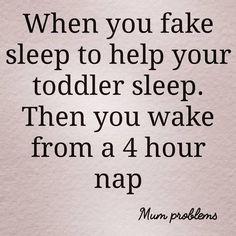 When You Fake Sleep....