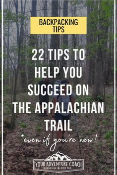 Thru hiking, or even long ass section hiking, the Appalachian Trail can seem like a huge undertaking.... because it is! But that doesn't mean it's impossible, and it definitely doesn't have to sit on the back burner of your bucket list for years to come. Check out these backpacking tips for thru hikers to increase your success on the Appalachian Trail #hiking #backpacking #appalachiantrail #backpackingtips