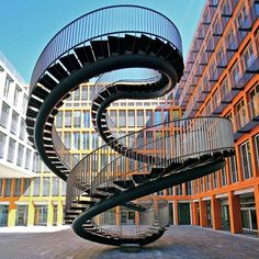 Staircase Installation 'Umschreibung' (Rewriting), designed by Olafur Eliasson, Munich/Germany
