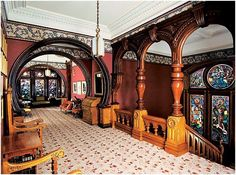 Victorian Mansion Interior | Victorian Interiors Victorian Style Homes, Victorian Interiors, Victorian Decor, Victorian Architecture, Architecture Details, Classical Architecture, Victorian Era, Interior Architecture, Mansion Homes