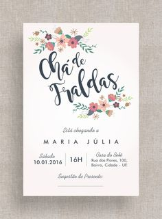 Convite Digital Chá de Fraldas 17 Baby Chloe, Baby Olivia, Baby Baptism, Diy Invitations, Baby Party, Childrens Party, Baby Decor, Baby Birthday, Baby Boy Shower