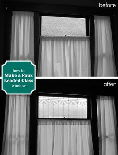 How to Make a DIY Faux Leaded Glass Window -- easy and inexpensive!