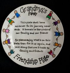This is a beautiful plate with a beautiful sentiment behind it. Based on an old poem, an extract of which is in the centre of the plate, its purpose