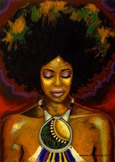 """Cosmic Tea"". oil pastel on paper 18*24 artist Mansa Pryor."