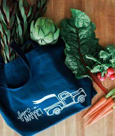 Farm to Market Tote Bag    http://www.amazon.com/gp/product/B00VFBUXDW  #Farm #marketbag #farmtomarket #belleandunion #ourwanderingnest #tote #totebag