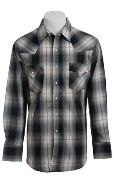 Ely Cattleman L/S Black Plaid Lurex Shirt $19.99!