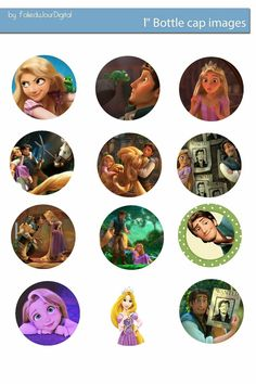 Free Bottle Cap Images: Tangled Free digital bottle cap images