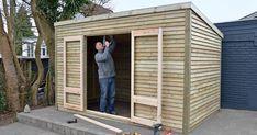 Billedresultat for haveskur Outside Storage, Outdoor Storage, Outdoor Spaces, Outdoor Living, Garden Storage Shed, Backyard Sheds, Garden Sheds, Wood Shed, Shed Plans
