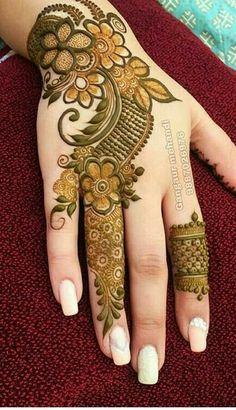 Floral Henna Designs, Finger Henna Designs, Latest Bridal Mehndi Designs, Full Hand Mehndi Designs, Mehndi Designs For Beginners, Mehndi Designs For Girls, Khafif Mehndi Design, Wedding Mehndi Designs, Mehndi Designs For Fingers