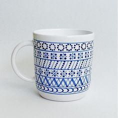modranska / šálka najväčšia modranska Best Gifts, Nice Gifts, Ceramic Design, Pottery, Mugs, Tableware, Charity, Embroidery, Ceramica