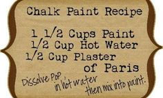 Chalkboard paint! I can't live without mine, I love the idea of any color!