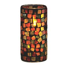 Sterno Products 80160 One-Piece Large Glass Earth-tone Liquid Candle Holder