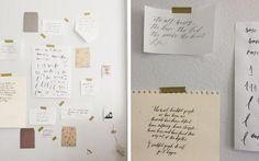 Paper Art & Brush Lettering Workshop – Little Wren