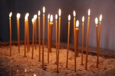 Glowing Church Candles {in sand} Church Candles, Old Teacher, Why Do People, Architectural Features, Son Of God, Blessed Mother, Christmas Eve, Free Photos, Life Hacks
