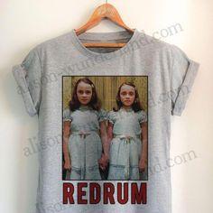 15c22aef9 Halloween Shirt - The Shining twins, redrum murder - selfie shirt. Women  Clothing Boutique