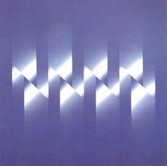1974 - cromostruttura azzurro-bianco, tempera su tela cm  65x65 Ennio Finzi