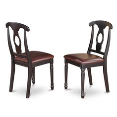 Kenley Nappoleon-styled Black/ Cherry Dining Chair (Set of 2) $130