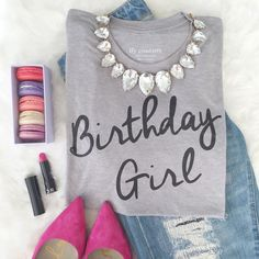 Let everyone in the bar know that it's your birthday with this cute shirt. And don't forget your accessories