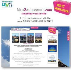 1er  site internet dédié aux NOUVEAUX ARRIVANTS