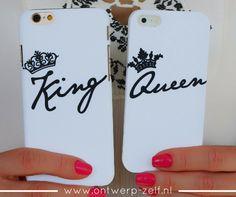 King - Queen Telefoonhoesjes - www.ontwerp-zelf.nl