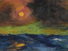 Emil Nolde,soleil,Überschleierte Sonne,soleil voilé