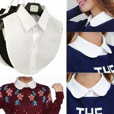 Купить товар2015 корейских мода белый черный ложные воротник блузки съемные воротники женщины мужская одежда аксессуары бесплатная доставка в категории Галстуки и платкина AliExpress.       Описание    Размер: один размер Цвет: черный \ белый Вес: 30 г Материал: хлопок   Пакет включает    : 1 X Съемный