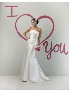 Strapless Empire Floor-length A-line Wedding Dress