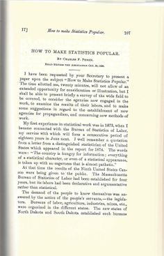 """How to Make Statistics Popular""— by Charles F. Pidgin (1890)"