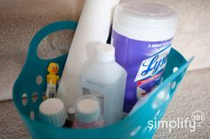 """A """"sick kit"""" with necessities you need on hand when someone in the family is sick - from simplify 101"""
