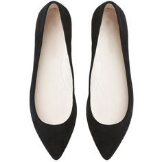This supple kid suede, pointed toe flat features a sleek metal toe cap detail. A stitched lining construction, latex padded foot bed and soft heel and toe supp…