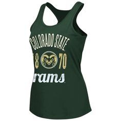Colorado State Rams Women's Court Tank Top – Green