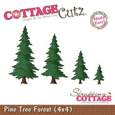 CottageCutz Pine Tree Forest Shape (4x4)