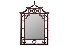 Fred Wall Mirror, Mahogany