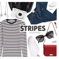 Stripes by monmondefou on Polyvore featuring moda, MaxMara, 3.1 Phillip Lim, BP. and Nikon