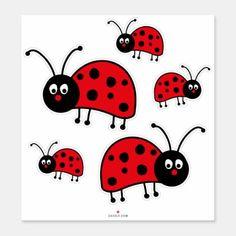 Shop Ladybug Sticker created by Xuxario. Bug Activities, Spring Activities, Black Ladybug, Ladybug Rocks, Ladybugs, Funny Stickers, Wall Stickers, Ladybug Crafts, Ladybug Decor