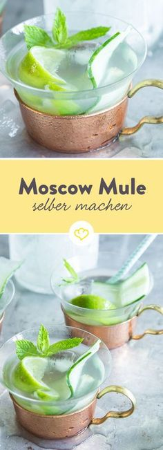 In Clubs und Bars kommst du derzeit an einem Getränk nicht vorbei – dem Moscow Mule. Aus leicht scharfem Ginger Beer, erfrischenden Gurkenscheiben, ein paar Spritzern Limette und einem guten Schuss Wodka mixen die Bartender dir einen erfrischend, würzigen Cocktail.