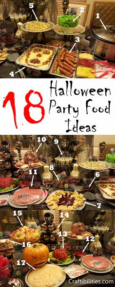 Easy Halloween /birthday party food - snack ideas - Kids or adults- CREEPY and gross themed food. Guest will love it!