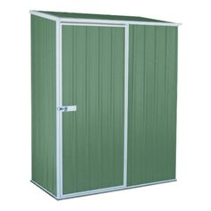 Find Absco Sheds x x Space Saver Single Door Garden Shed - Pale Eucalypt at Bunnings Warehouse. Visit your local store for the widest range of garden products. Media Storage, Shed Storage, Tall Cabinet Storage, Locker Storage, Australian Sheds, Tool Sheds, Single Doors, Outdoor Storage, Space Saver