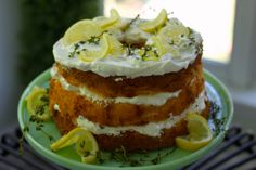 Lemon Angel Food Layer Cake, oh my Angel Food Cake Desserts, Home Food, Let Them Eat Cake, Food Art, Sweet Tooth, Dinner Recipes, Lemon, Baking, Bakken