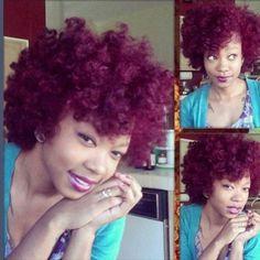 Color fun: curly afro Okay look at this color Love Hair, Big Hair, Pretty Hair, Gorgeous Hair, Curly Hair Styles, Natural Hair Styles, Pelo Natural, Au Natural, Natural Beauty
