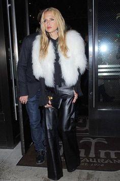 Rachel Zoe wearing Hermes Medor Clutch